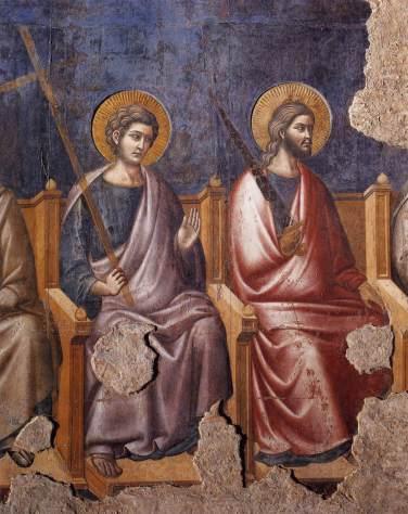 Пьетро Каваллини. Фреска в базилике Санта-Чечилия-ин-Трастевере (1295-1300). Фрагмент
