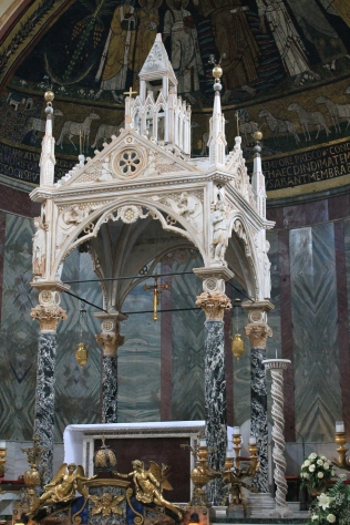 Арнольфо ди Камбио. Киворий в базилике Санта-Чечилия-ин-Трастевере (1293)