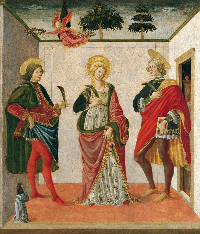 Франческо Боттичини Святая Цецилия между Валерианом и Тибурцием (2-я половина XV в.)
