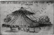 Неизвестный художник. Шатер пастора Уильяма Миллера (1782-1849) и место для проведения camp meeting в Ньюарке (ок. 1842 г.)