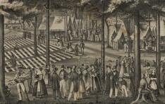 Джозеф Б. Смит. Синг-Синг camp meeting (1838). Фрагмент. Литография 1839-1849 гг. (Prints and Photographs Department of the Library of Congress)