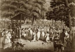 Хью Бридпорт. Протестантский camp meeting (1829)