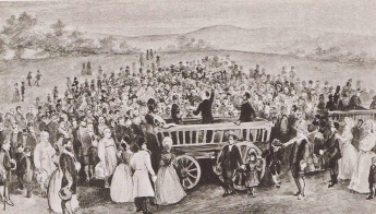 Неизвестный художник. Camp meeting в Нортон-ле-Мур (ок. 1807 г.)